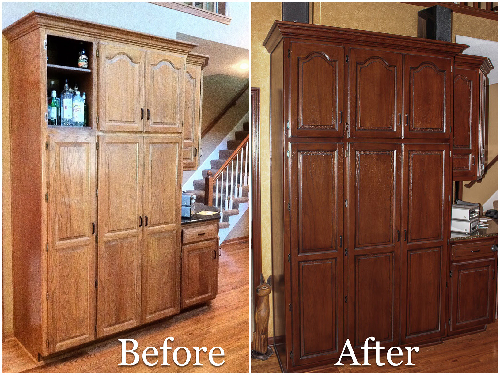 Cabinet Re-staining in Kansas City