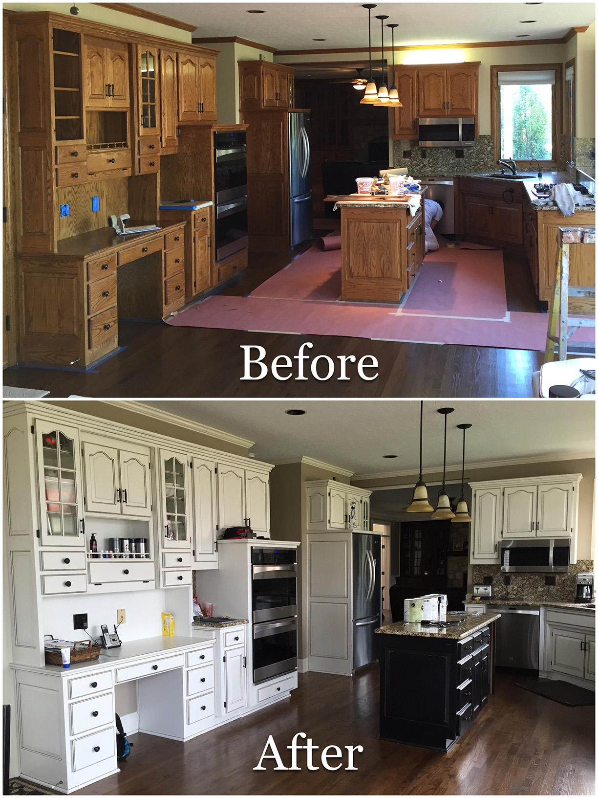 Repainted Kitchen cabinets