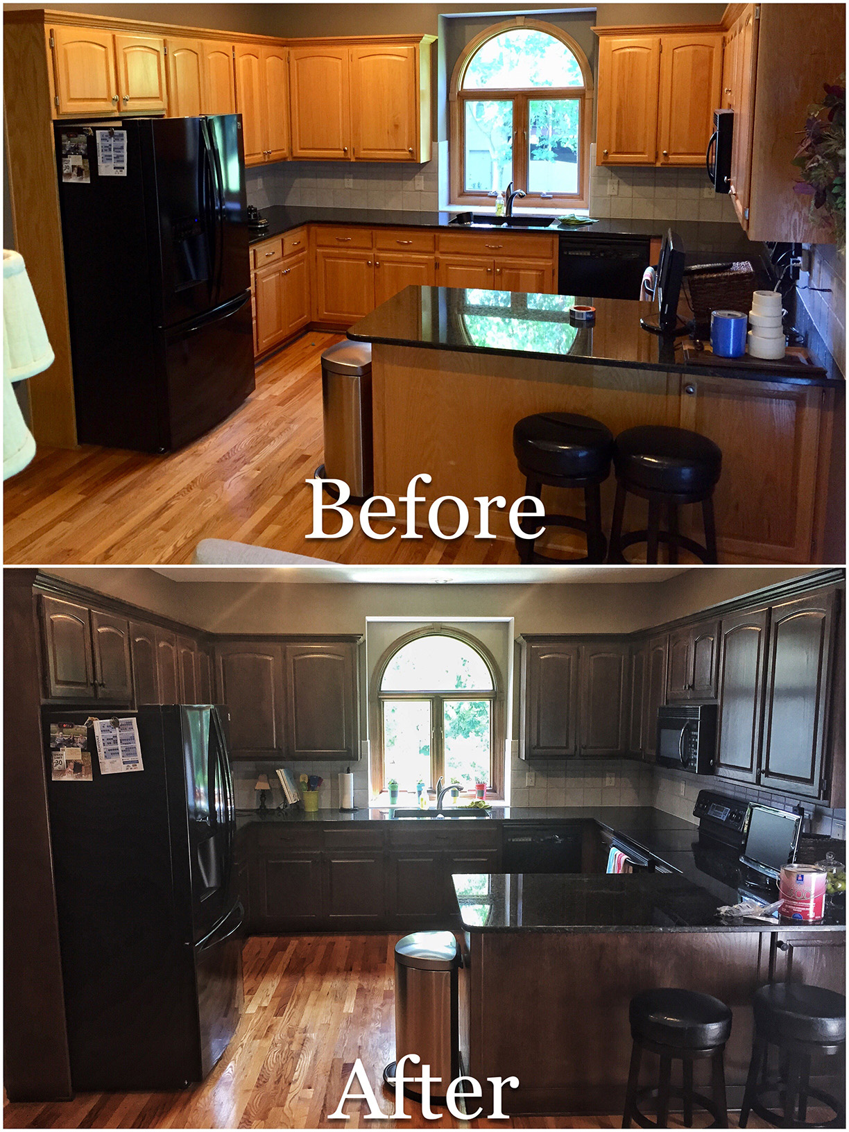 Cabinet Restaining in Kansas City